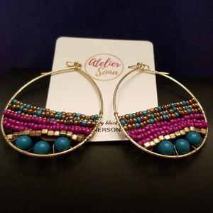 Atelier Sona Jewelry - Beaded Tear Drop Earrings